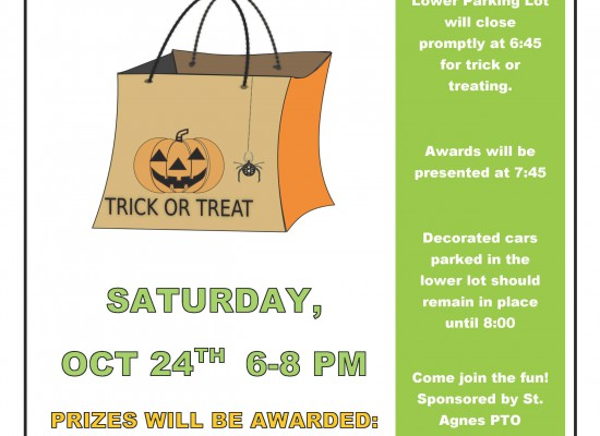 Trunk or Treat Tomorrow